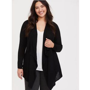 torrid Mixed Stitch Drape Cardigan